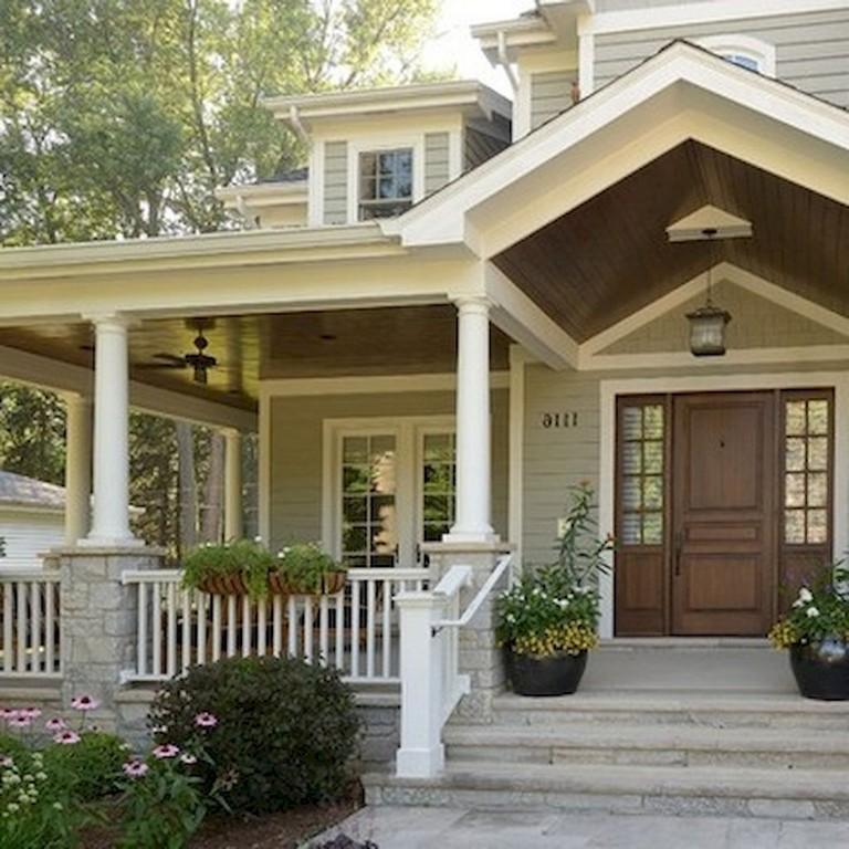 Home Design Ideas Front: 38+ Inspiring Farmhouse Front Porch Steps Decor Ideas