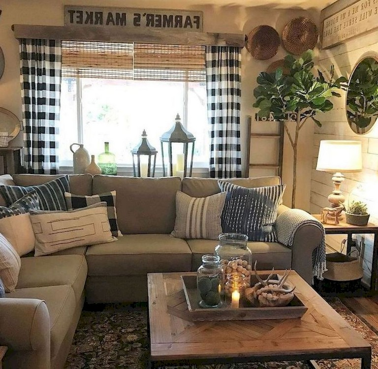 68+ Comfy Modern Farmhouse Living Room Makeover Decor Ideas