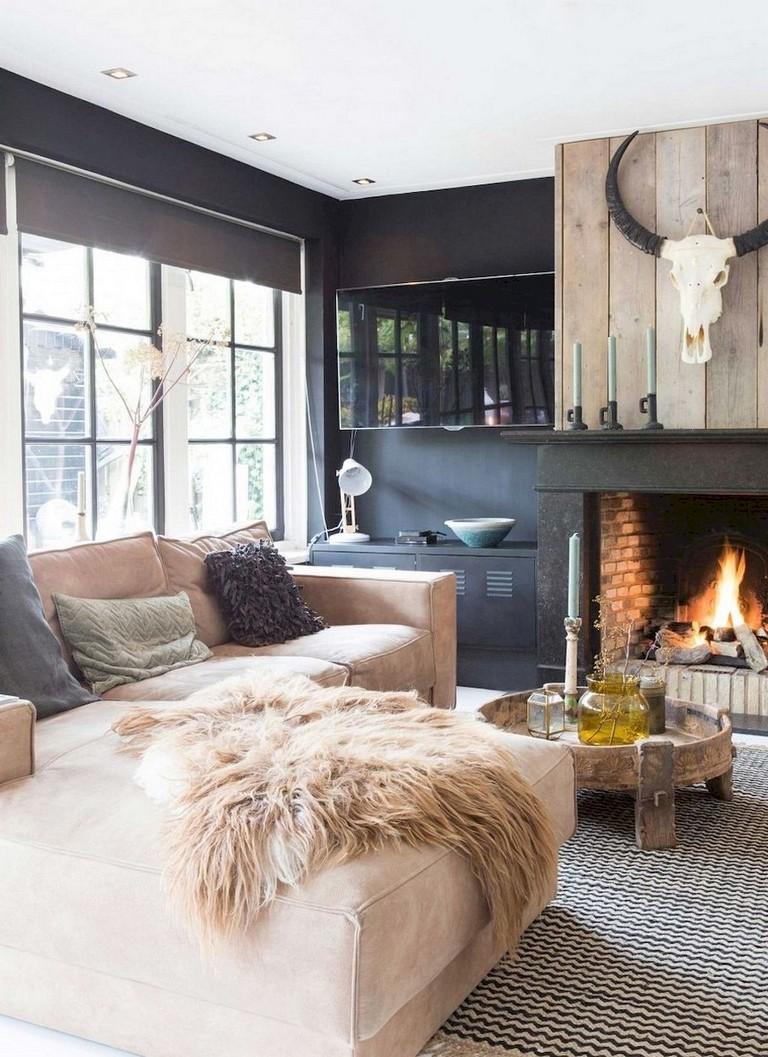 68+ Comfy Modern Farmhouse Living Room Makeover Decor ...