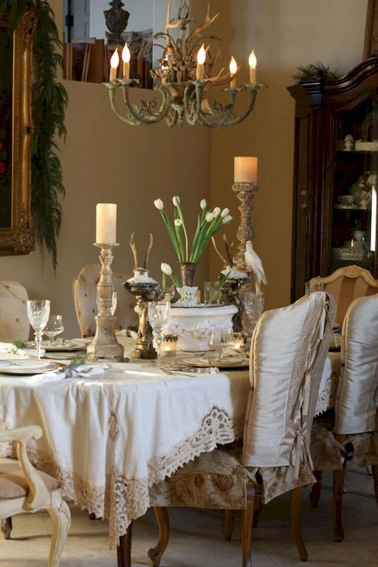 73+ Awesome Vintage French Country Dining Room Design ...